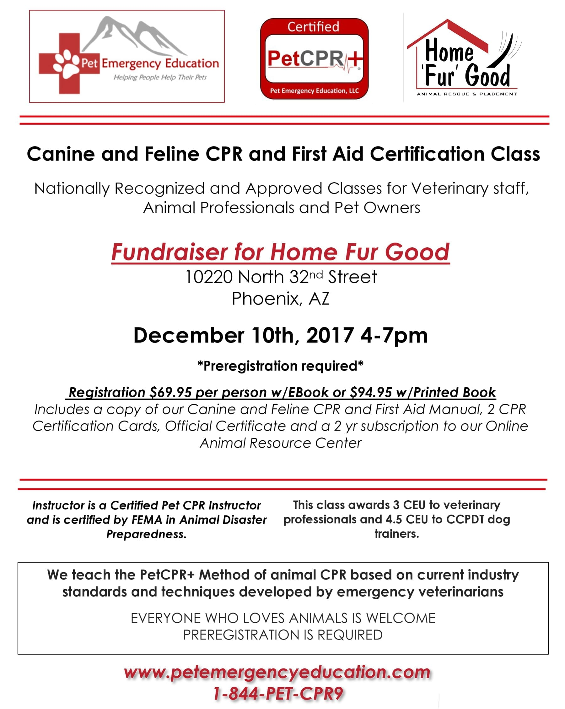 Canine And Feline Cpr And First Aid Certification Class Home Fur Good