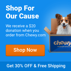 Order your Pet Food at Chewy.com and Home Fur Good Animal Rescue and Placement will get a $20 donation!